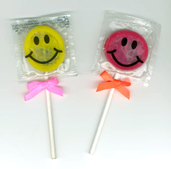 Planned Parenthood Condoms Packaged as Lolipops for Teen Campaign, with Their Teen-Line number Printed on Back